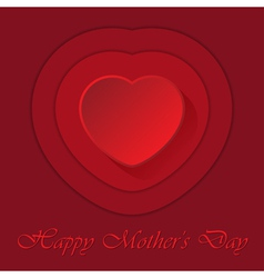 Mothers day card with heart and contours vector