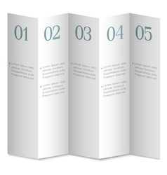 Folded white numbered paper banners vector