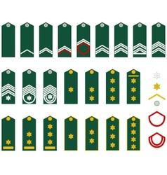 Insignia belgian army vector