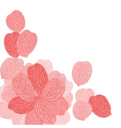 Background of pink flower petals vector