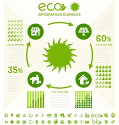 Ecology infographic template vector