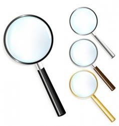Set of magnifiers vector