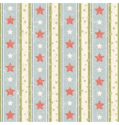 Vintage stars pattern vector