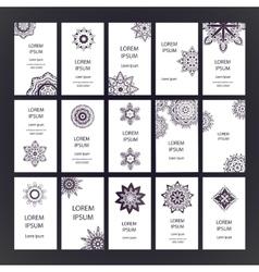 Mandalas business card vector