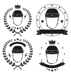 Set of vintage motor club badge and label vector