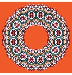Circular ornament vector