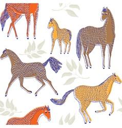 Horse drawing screenprint vector