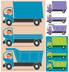 Truck driver vector
