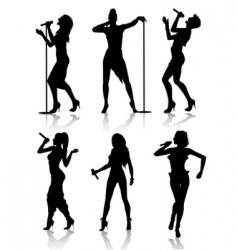 Female singers vector