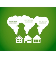 Green village and clean enviroment infographics vector