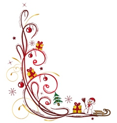 Christmas tendril winter vector