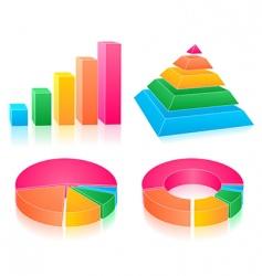Set of rainbow charts vector