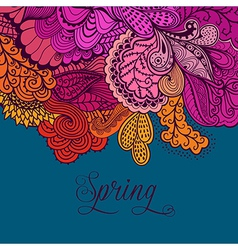 Decorative element lace border spring lettering vector