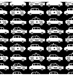 Seamless car pattern vector