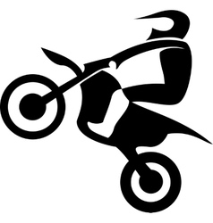 Motocross enduro rider vector