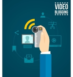 Video blogging concept vector