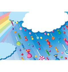 Candy rain card vector