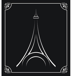 Tower eiffel design vector