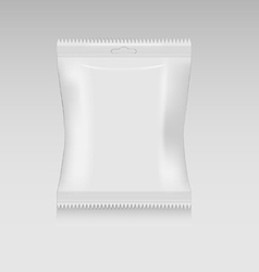 Snack bag small mockup vector