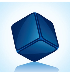 Cube is in blue shade stock vector
