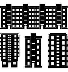 Modern house silhouettes set vector