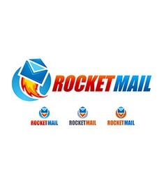 Rocket mail logo vector