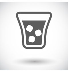 Glass whit ice vector