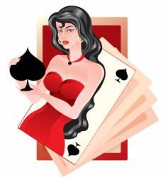 Queen of spades vector