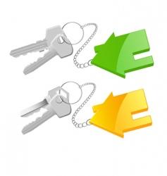 Keyring cottage vector