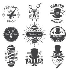 Vintage barber shop emblems vector