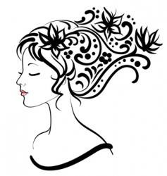 floral girl vector illustration vector