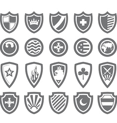 Abstract victorian arms on shields vector