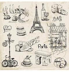 Paris set vector