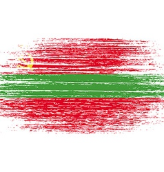 Flag of transnistria with old texture vector