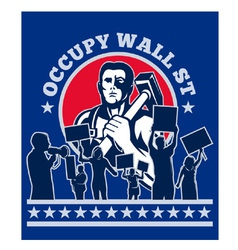 Occupy wall street poster vector