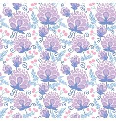 Soft purple flowers seamless pattern background vector