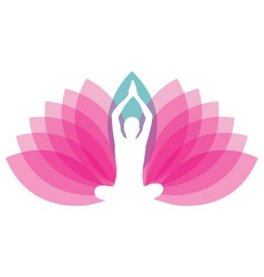 Logo for yoga or fitness center vector
