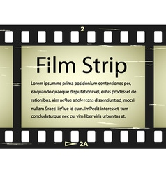 Scratched film strip vector