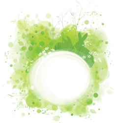 Spring frame rabbit vector