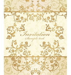 Frame and ornate pattern vector