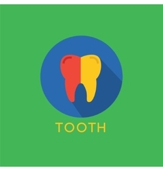 Tooth icon icon health medical or doctor vector