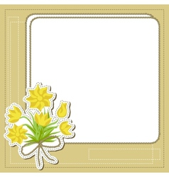 Vintage frame with flowers retro background vector