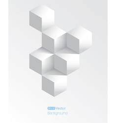 Realistic white geometrical background with vector