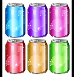 Set of soda cans vector