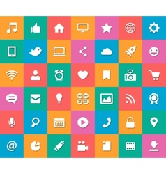 Set of modern flat design social media icons vector