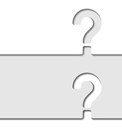 White paper question mark vector