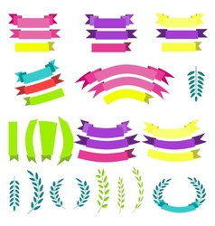 Set of laurels vector