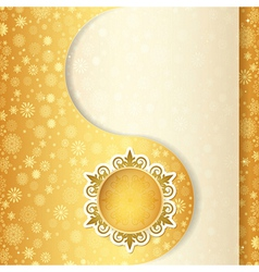 Christmas gift card snowflake design background vector