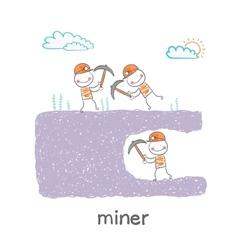 Miner looking minetaly vector