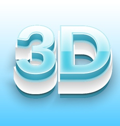 3d text with blue and white bevel 01 vector